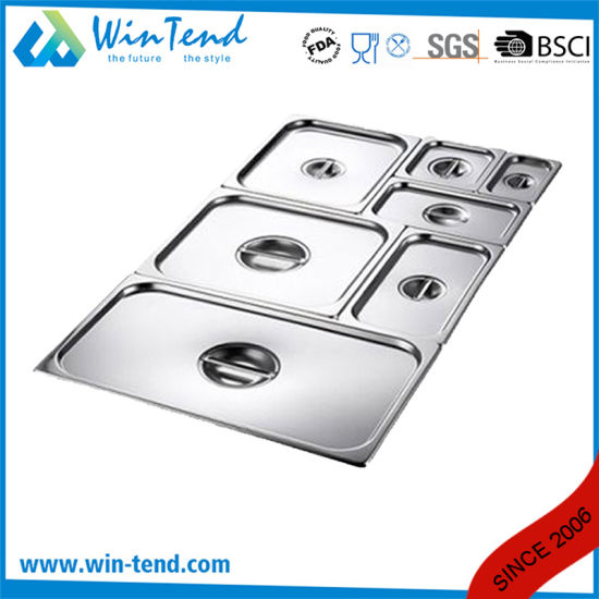 Stainless Steel Gastronorm Gn Container Pan Lid