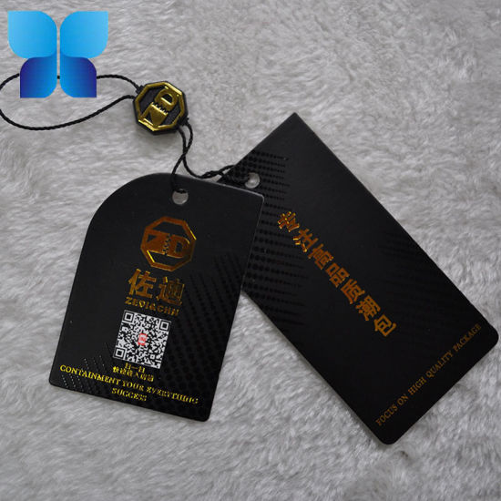 Hot Sale Golden Foil Hang Tag Paper Swing Tag for Apparel