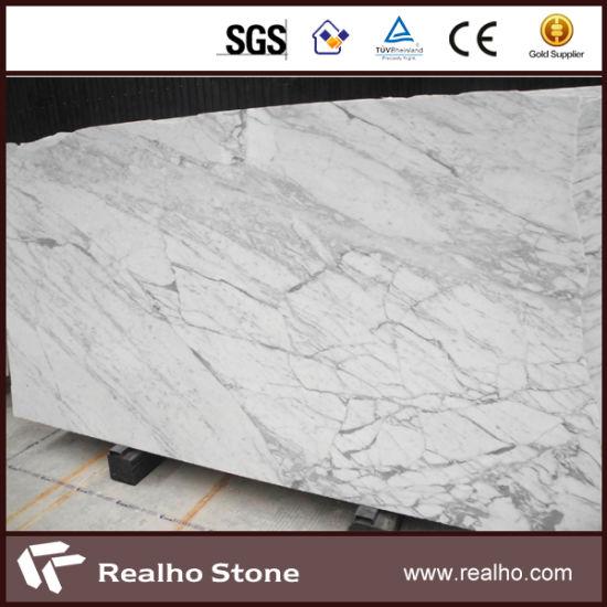 China Good Quality Bianco Carrara White Marble Slab for