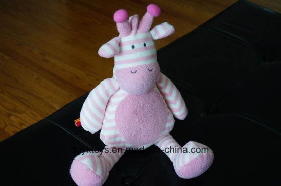 Stuffed Animal Pink White Stripe 2017 Soft Doll