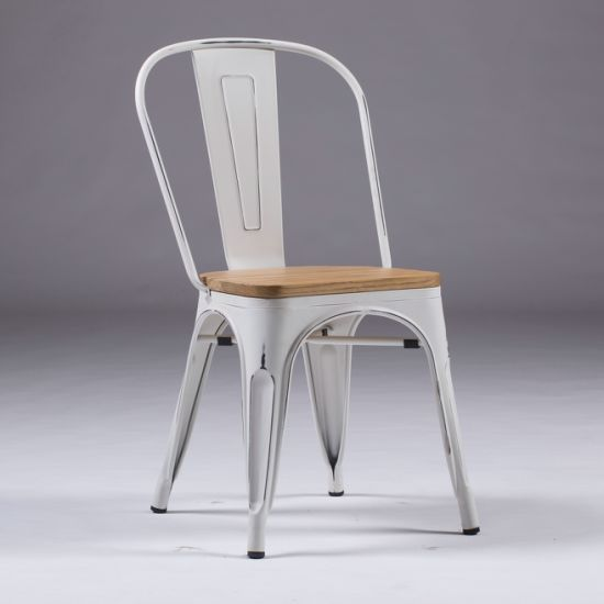 Cool China Vintage White Tolix Dining Chairs Industrial Metal Theyellowbook Wood Chair Design Ideas Theyellowbookinfo