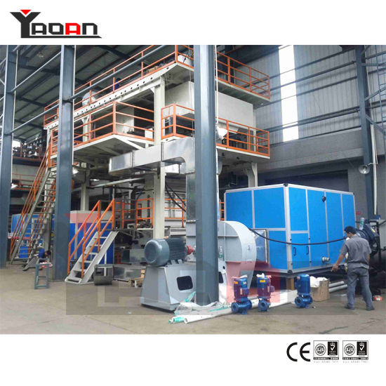Double Beam Ss Spunbonded Nonwoven Fabric Extruder Extrusion Machine pictures & photos