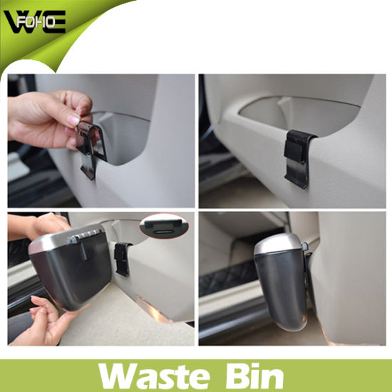 Outdoor Plastic Small Size Car Waste Can Bin pictures & photos