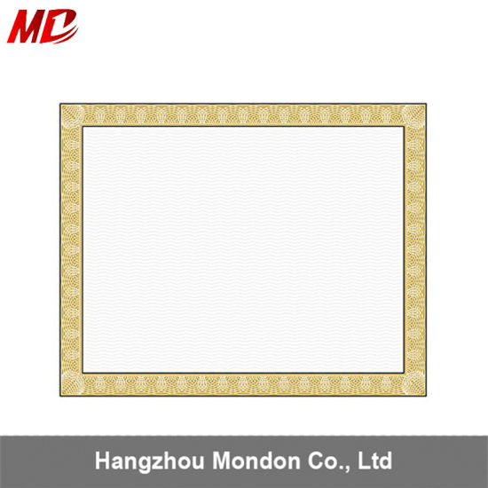 China Factory Product A4 Certificate Embossed Print Wooden Paper In