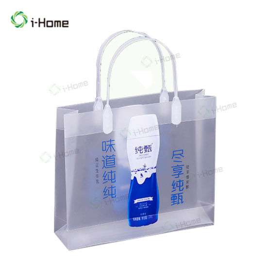Customized Transparent Plastic Shopping Gift Bag with Die Cut Handle
