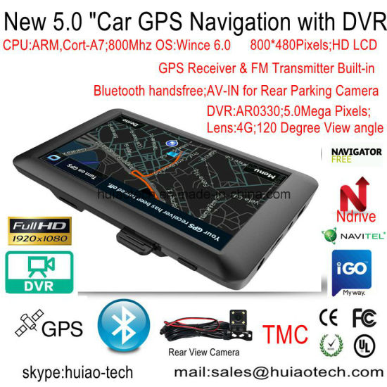 2018 5.0inch Android 6.0 Quad-Core. 1.5GHz Tablet PC with Car GPS Navigation, FHD1080p Car DVR, AV-in Rear Parking Camera; 5.0mega Car GPS Navigator pictures & photos