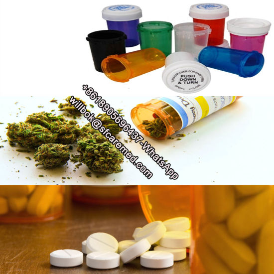 Blue Pharmacy Vials Plastic Vials Reversible Cap Child Resistant Cap OEM