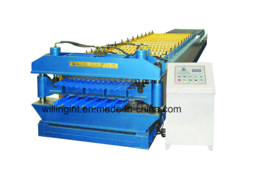 Corrugated Trapozoidal Double Layer Roll Forming Machine pictures & photos