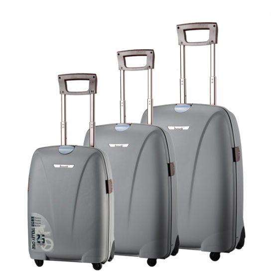 "Hot Sale! PP Aluminum Trolley Wheeled Luggage Set PP Trolley Case Vl26""22""18′ pictures & photos"