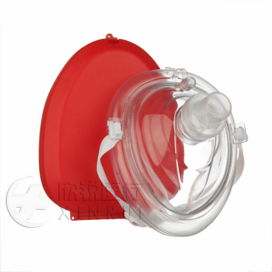 First Aid Disposable Emergency Medical PVC CPR Mask CPR Face Mask