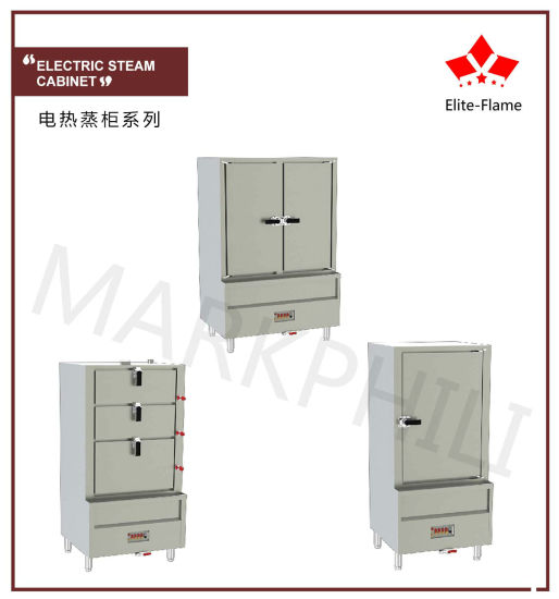 Electric Triple Door Steam Cabinet For Commercial Equipment