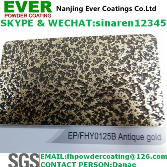 Electrostatic Spray Antique Gold Vein Hammer Tone Texture Powder Coating Paint pictures & photos