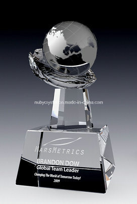 Globe on Crystal Hand Award (NU-CW817) pictures & photos