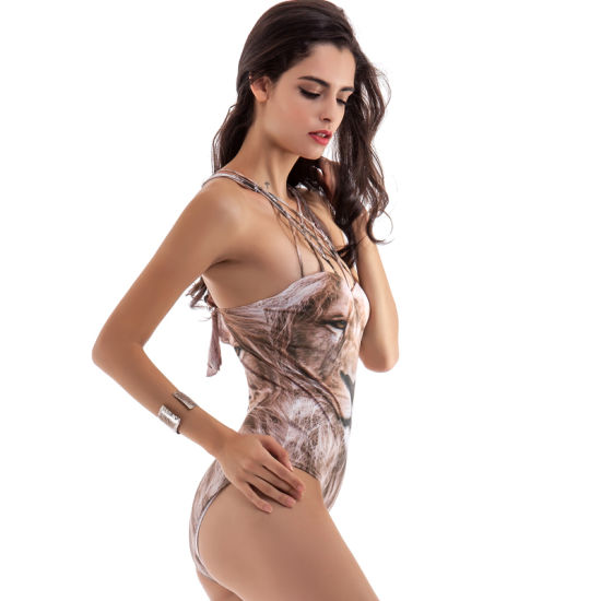 902d64ab60 China Sexy Lion Printing Swimming Suit for Sexy Women - China ...