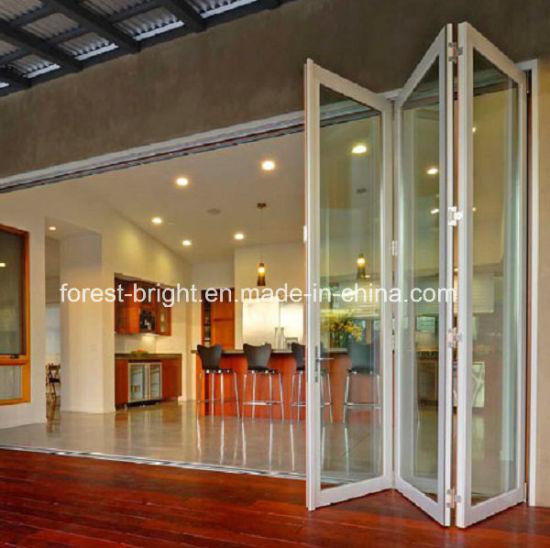 China Exterior Folding Glass Door Price China Glass Folding Door