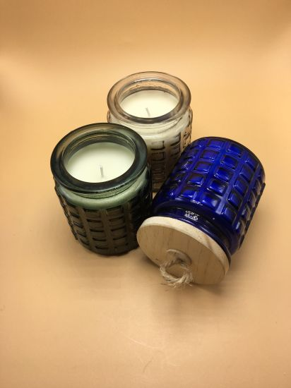 Various Color Soy Wax Scented Glass Jar Candle pictures & photos