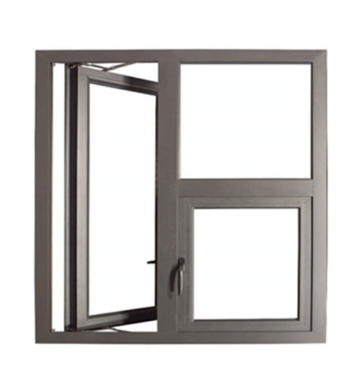 Double Tempered Glass Thermal Break Aluminum Casement Window