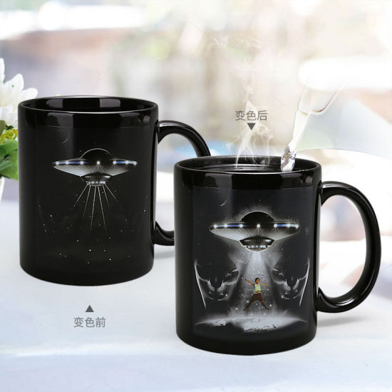 Halloween Explosion Trend Coffee Cup UFO Flying Saucer Color Change Wholesale Spot Creative Gift Ceramic Mug