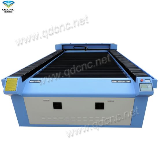 CNC Wood CO2 Laser Cutting Engraving Machine with 1500*3000mm Qd-1530