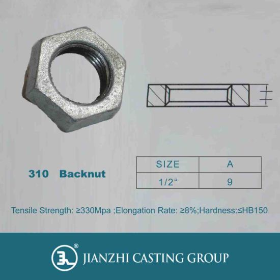 Plumbing G. I Malleable Iron Pipe Fitting 310 Backnuts