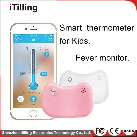 Body Temperature Alarm Monitor Smart Digital Bluetooth Wireless Baby Thermometer Gauge