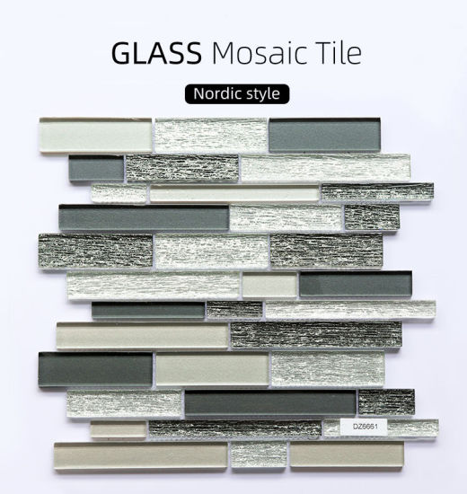 China Foshan Factory Cheap Prices Porcelain Mosaique Bathroom Wall Square Green Blue Ceramic And Glass Mosaic China Mosaic Wall Tile Tile