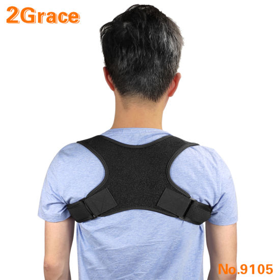 Stock Fast Dispatch Ok Fabric FDA Approved Back Posture Support Corrector with Adjustable Strap