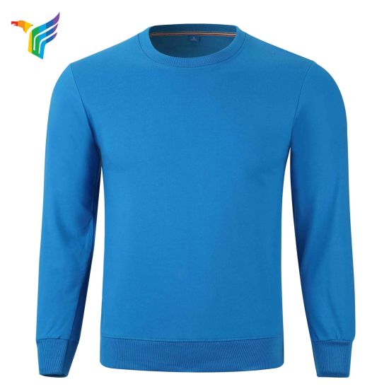 Jfc Customize Blue Warm Fleece Made by Terry Cotton Round Neck Tracksuits Warm Fleece Leisure Jerseys Jfc- Tj003