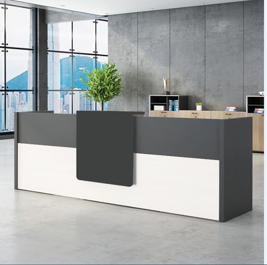 Beauty Salon Furniture Reception Desk Counter Table with Button
