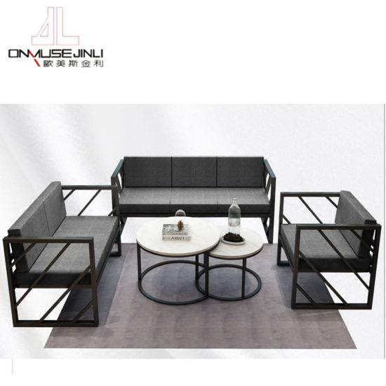 China Modern Coffee Furniture Sofa, Iron Sofa Set Designs
