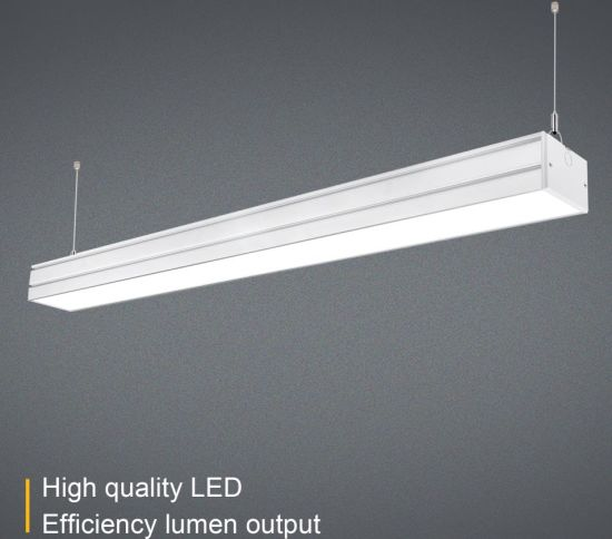 Super Brightness Office Led Pendant Linear Light Suspended Ceiling Lamp Length 600 1200 1800 2400mm Wide 100 Hight 64mm