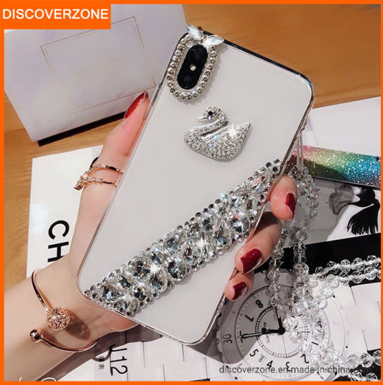 Fashion Diamonds Phone Case Swan Crystal Cell Phone Cover for Mobile Phone Accessories