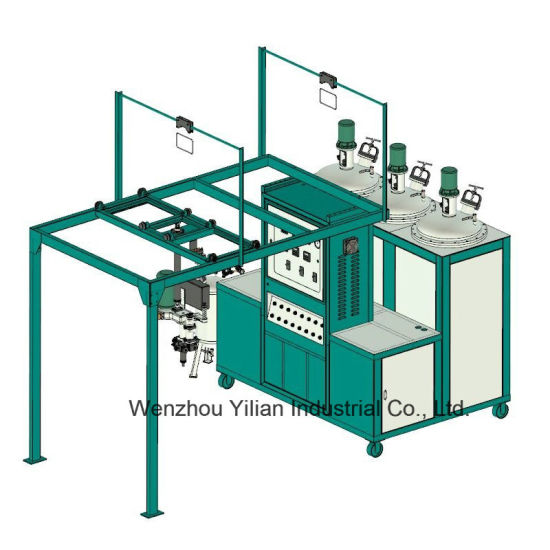 New Type 60 Station Low Pressure PU Pouring Machine for Shoe Making