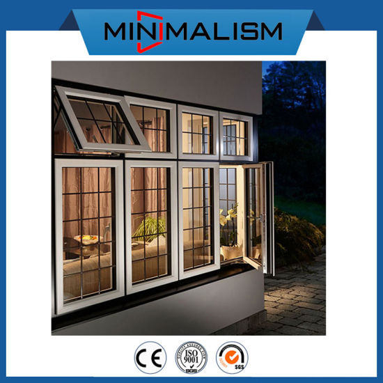 Green House Aluminium Casement Sliding Solid Window with 2.0mm Thickness
