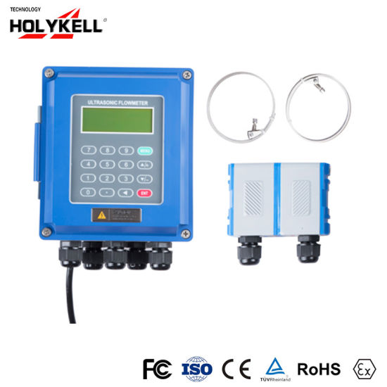 LCD Digital Display Parshall Flume Open Channel Water Portable Energy Ultrasonic Flow Meter