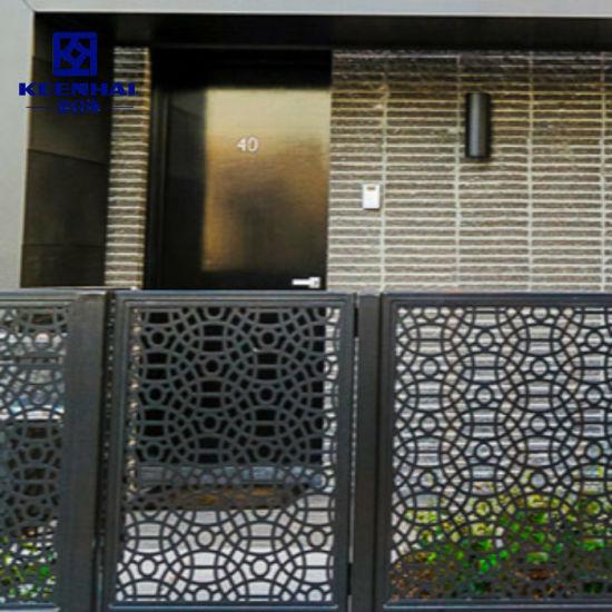 Decoration Laser Cut Metal Aluminum Garden Fence Panels