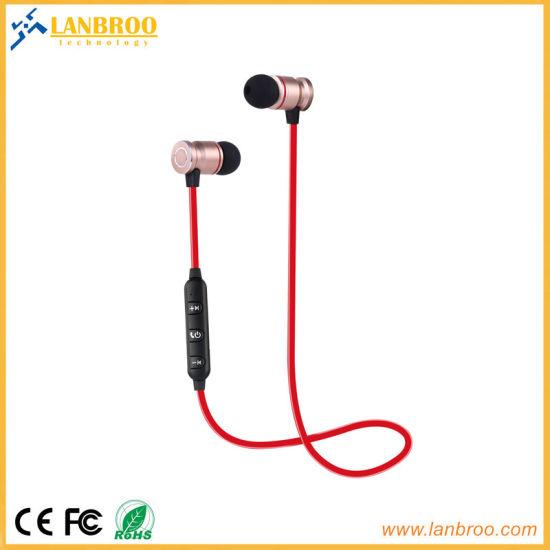 d5a6f6067a7a1a 2018 Best Wireless Bluetooth Earphone in-Ear Headphone Handsfree Magnetic  Adroption