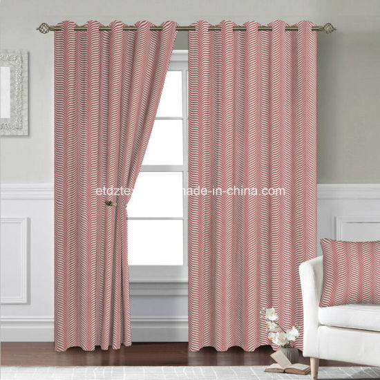 2018 100% Polyester Shrinkage Jacquard Curtain Fabric in Well Drapes pictures & photos