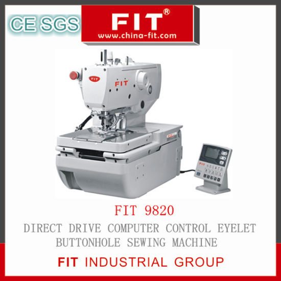 Direct Drive Computer Control Eyelet Buttonhole Sewing Machine