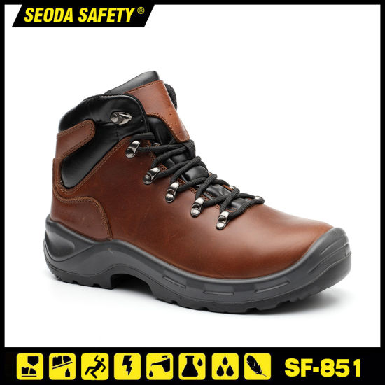 Chain Saw Protection Brown Action Leather Safety Boots