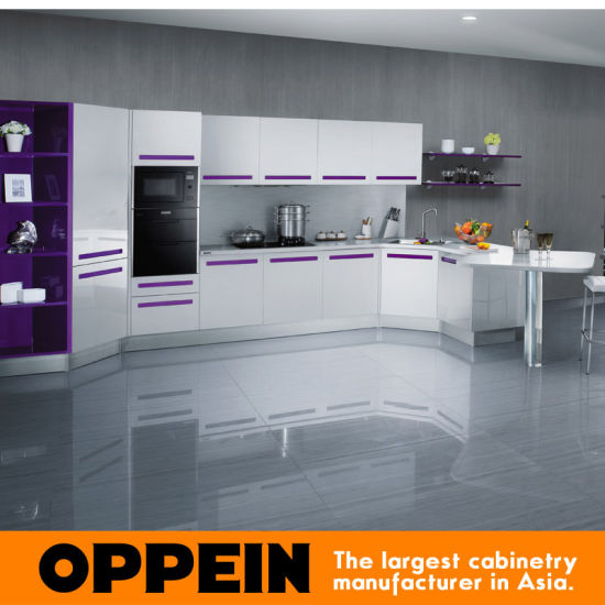 Oppein Modern Purple Lacquer Mdf Kitchen Cabinets Op12 X143