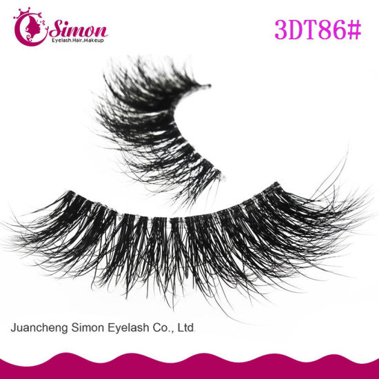 Wholesale Siberian Mink Fur 3D Transparent Plastic Terrier Mink Lashes pictures & photos