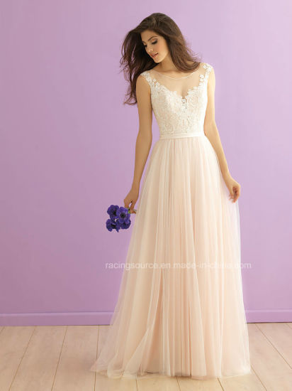Bohemian Bridal Dress See Through Wedding Gown