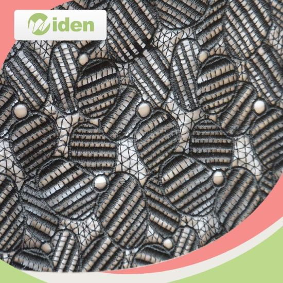 Fashion Accessories Design Cotton and Poly Black Chemical Lace Fabric pictures & photos