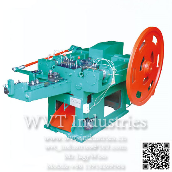 "Wuxi Automatic 1""-6"" Concrete Steel Iron Wire Nail Fabricating Line Equipment China Factory Price/Coil Nail Machine/Thread Rolling Twisting Machine pictures & photos"