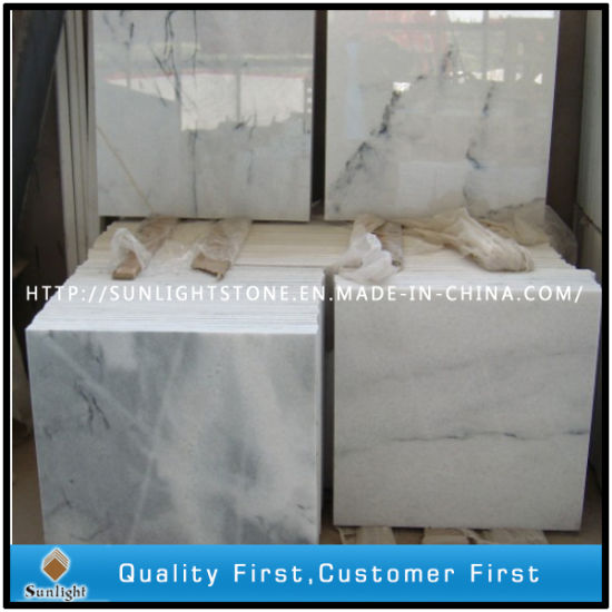 Polished Crystal White Wave Marble for Stone Tiles Paving Flooring