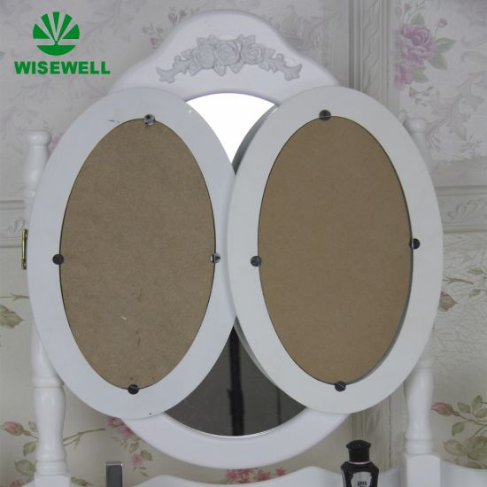 MDF Dressing Table with 3 Fold Mirror Set (W-HY-002) pictures & photos