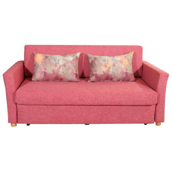 2 Seater Pink Folding Sofa Bed