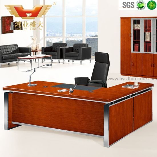 High Quality Modern L-Shaped Executive Office Desk (HY-D5124) pictures & photos