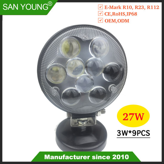 High Transmittance 4inch 27W LED Work Light Truck LED Working Lamp